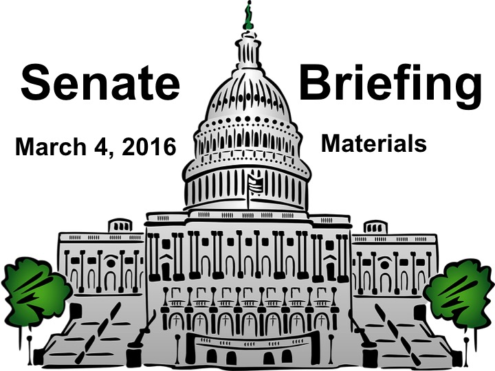 Senate Briefing Materials